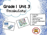EM4-Everyday Math 4 - Grade 1 Unit 3 Vocabulary