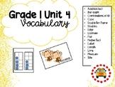 EM4-Everyday Math 4 - Grade 1 Unit 4 Vocabulary