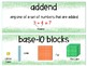 EM4-Everyday Math 4 - Grade 1 Unit 5 Vocabulary
