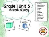 EM4-Everyday Math 4 - Grade 1 Unit 5 Vocabulary