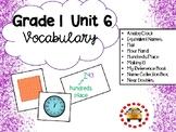 EM4-Everyday Math 4 - Grade 1 Unit 6 Vocabulary