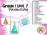 EM4-Everyday Math 4 - Grade 1 Unit 7 Vocabulary