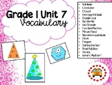 EM4-Everyday Math 4 - Grade 1 Unit 7 Vocabulary