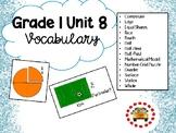 EM4-Everyday Math 4 - Grade 1 Unit 8 Vocabulary