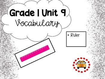 EM4-Everyday Math 4 - Grade 1 Unit 9 Vocabulary