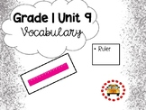 EM4-Everyday Math 4 - Grade 1 Unit 9 Vocabulary