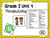 EM4-Everyday Math 4 - Grade 2 Unit 4 Vocabulary