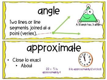 EM4-Everyday Math 4 - Grade 3 Unit 4 Vocabulary