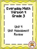 EM4-Everyday Math 4 - Grade 3 Unit 4 Assessment Study Guide