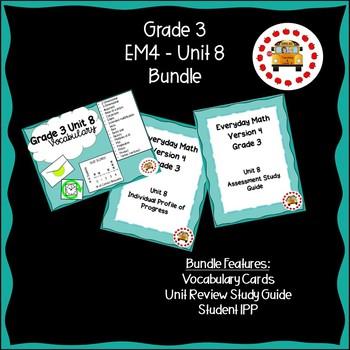 EM4-Everyday Math 4 - Grade 3 Unit 8 GROWING Bundle