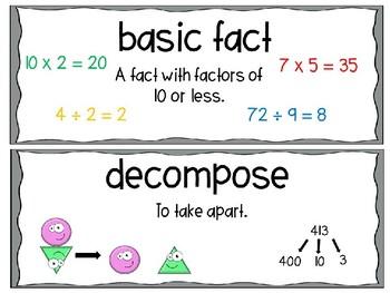 EM4-Everyday Math 4 - Grade 3 Unit 9 Vocabulary