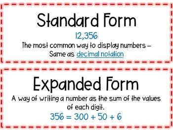 EM4-Everyday Math Grade 4 Unit 1 Vocabulary