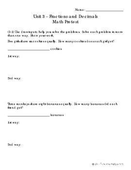 EM4-Everyday Math Grade 4 Unit 3 Pretest