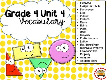 EM4-Everyday Math 4 - Grade 4 Unit 4 Vocabulary