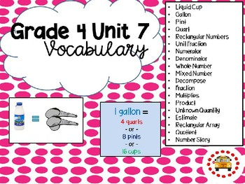 EM4-Everyday Math 4 - Grade 4 Unit 7 Vocabulary