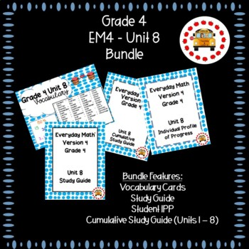 EM4-Everyday Math 4 - Grade 4 Unit 8 Bundle