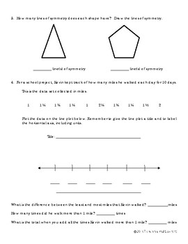 EM4-Everyday Math 4 - Grade 4 Unit 8 Study Guide