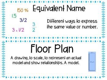 EM4-Everyday Math Grade 4 Unit 8 Vocabulary