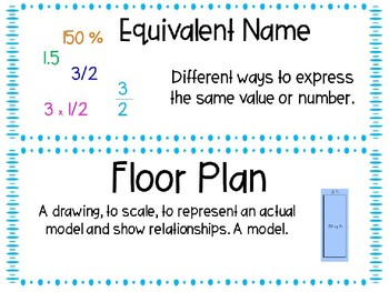EM4-Everyday Math 4 - Grade 4 Unit 8 Vocabulary
