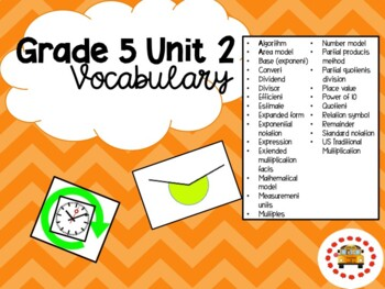 EM4-Everyday Math Grade 5 Unit 2 Vocabulary