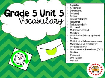EM4-Everyday Math 4 - Grade 5 Unit 5 Vocabulary