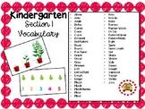 EM4-Everyday Math 4 - Kindergarten Section 1 Vocabulary