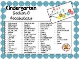 EM4-Everyday Math Kindergarten Section 8 Vocabulary