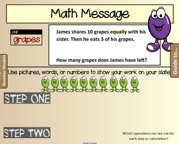 EM4. Unit 2. Everyday Math. Third Grade. SMARTboard Lessons. (Grade 3)