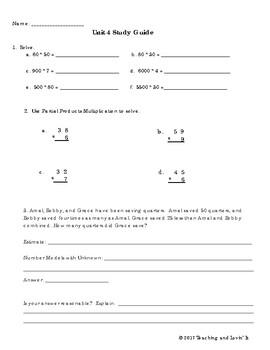 EM4-Everyday Math Grade 4 Unit 4 Study Guide