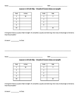 EM4 Fourth Grade Units 1-4 Exit Slips and Study Guides