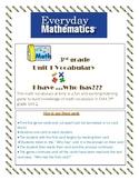 EM4 Grade 3 Unit 1 I have ....Who has?