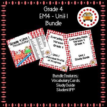 EM4-Everyday Math 4 - Grade 4 Unit 1 Bundle