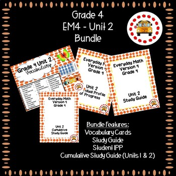EM4 Everyday Math 4 Grade 4 Unit 2 Bundle