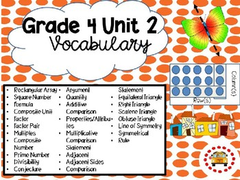EM4-Everyday Math 4 - Grade 4 Unit 2 Vocabulary