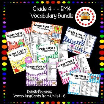 EM4-Everyday Math Grade 4 Vocabulary Bundle