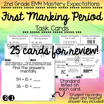 EM4 Mastery Expectations Task Cards & Assessment FIRST MARKING PERIOD!