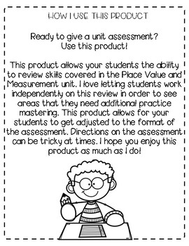 EM4 Unit 4 Review for Second Grade