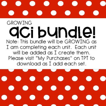 EM4 -Units 1-9 FULL GROWING BUNDLE ACI Booklets for First Grade