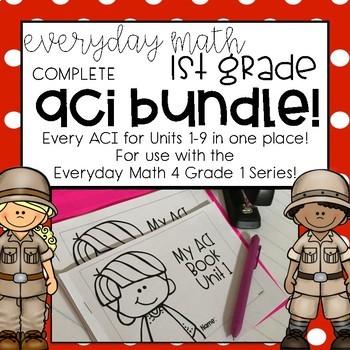 EM4 Units 1-9 FULL BUNDLE ACI Booklets for First Grade