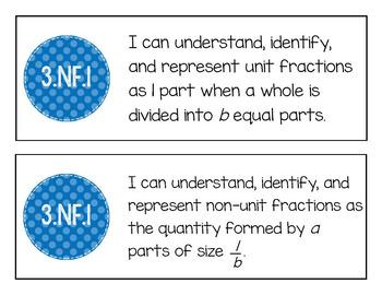 "EM4's Grade 3 Goals for Mathematical Content (GMCs) ""I Can"" Mini-Posters"
