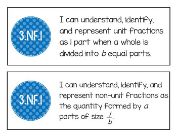 "EM4's Grade 3 Goals for Mathematical Content (GMCs) ""I Can"" Mini-Posters"
