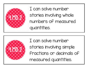 "EM4's Grade 4 Goals for Mathematical Content (GMCs) ""I Can"" Mini-Posters"