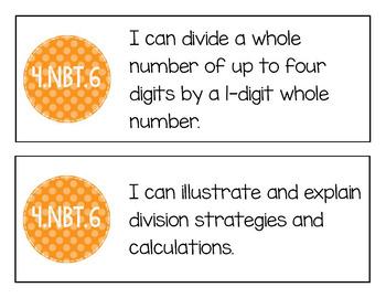 "EM4's Grade 4 Goals for Mathematical Content (GMCs) ""I Can"" Mini-Posters"