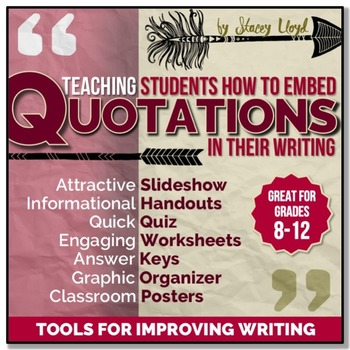 embedding quotations tools for teaching writing by stacey lloyd