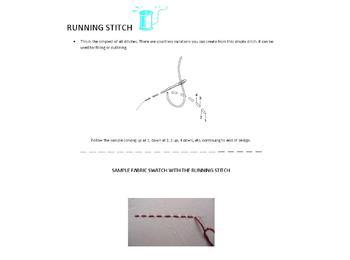 EMBROIDERY HAND STITCHING UNIT (FLAT STITCHES)