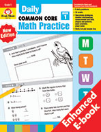 Daily Common Core Math Practice, Grade 1 e-book