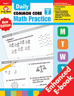 Daily Common Core Math Practice, Grade 2 e-book