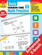 Daily Common Core Math Practice, Grade 3 e-book