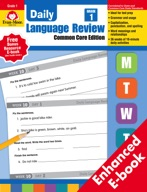 Daily Language Review, Common Core Edition, Grade 1 - e-book