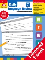 Daily Language Review, Common Core Edition, Grade 4 - e-book